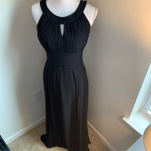 SLYN Simple Black Ball Gown